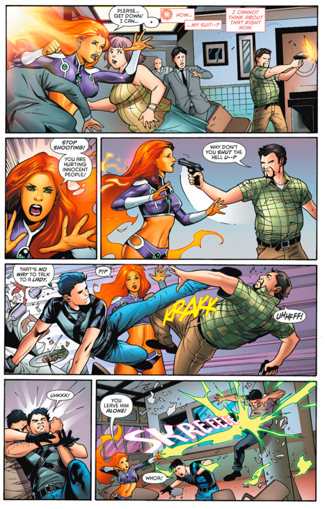 starfire learns dick grayson is still alive