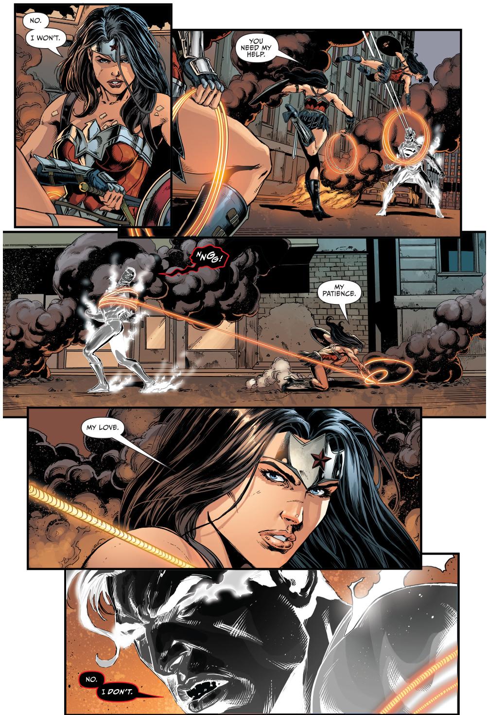 superman vs wonder woman (darkseid war)