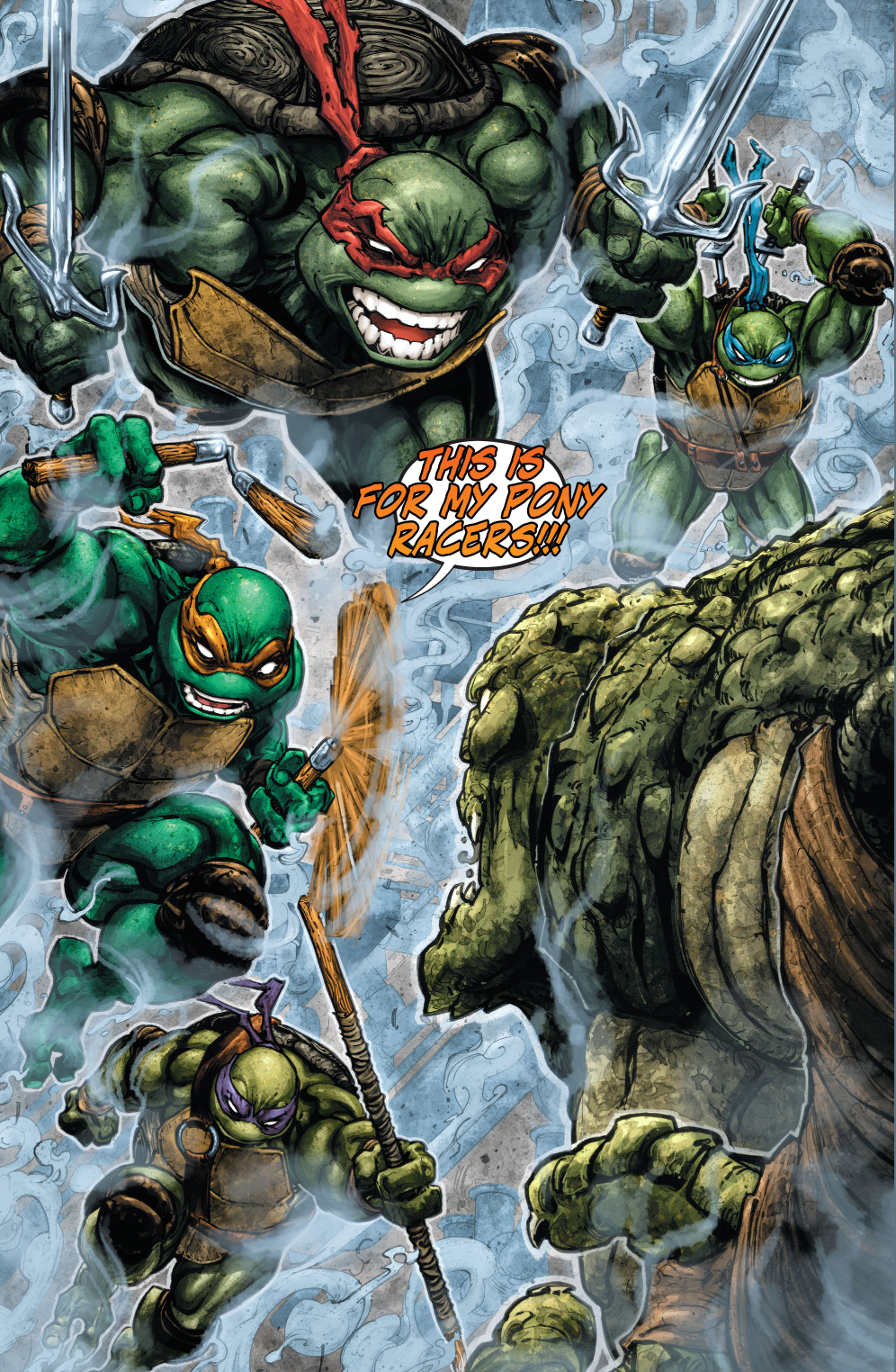 teenage mutant ninja turtles vs killer croc