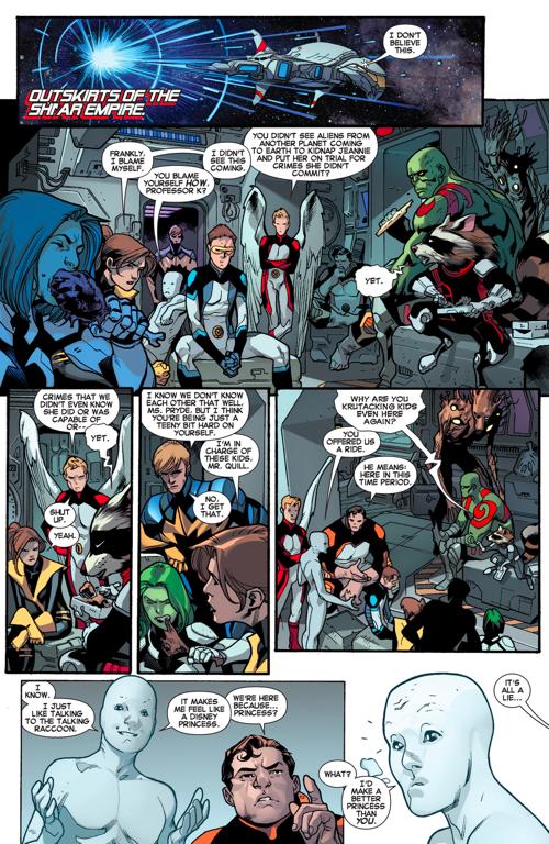 the original 5 x-men meets the guardians of the galaxy