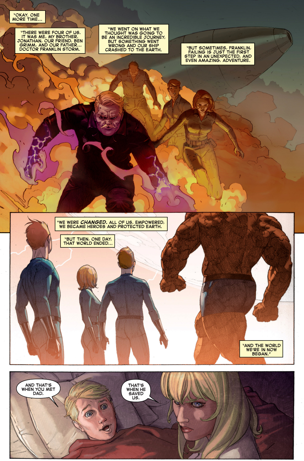 the story of the fantastic four (secret wars)