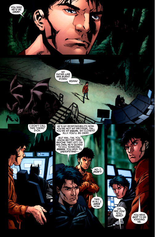 why dick grayson didn't choose tim drake as robin