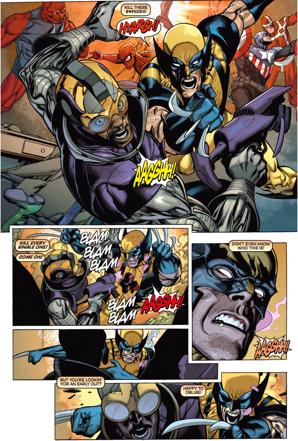 wolverine's thoughts during a fight