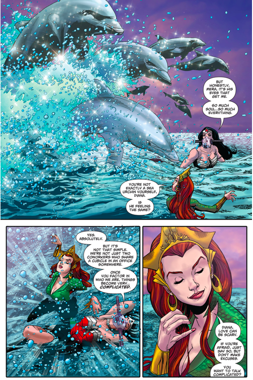 Wonder Woman And Mera Having A Girl Talk