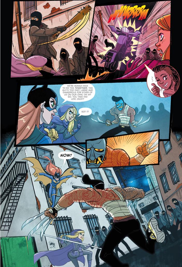 batgirl and spoiler vs mokugeki
