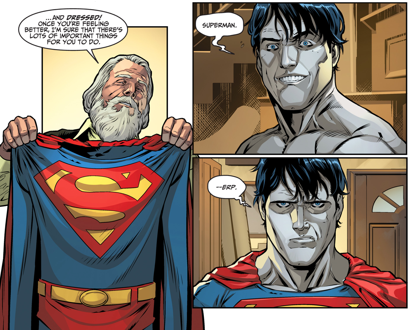 bizarro gets his costume