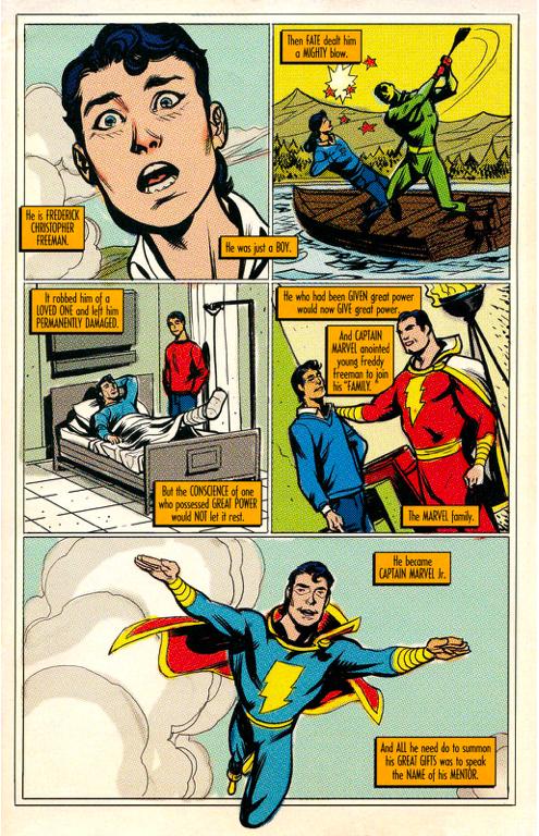 Captain Marvel Jr's origin (trials of shazam)