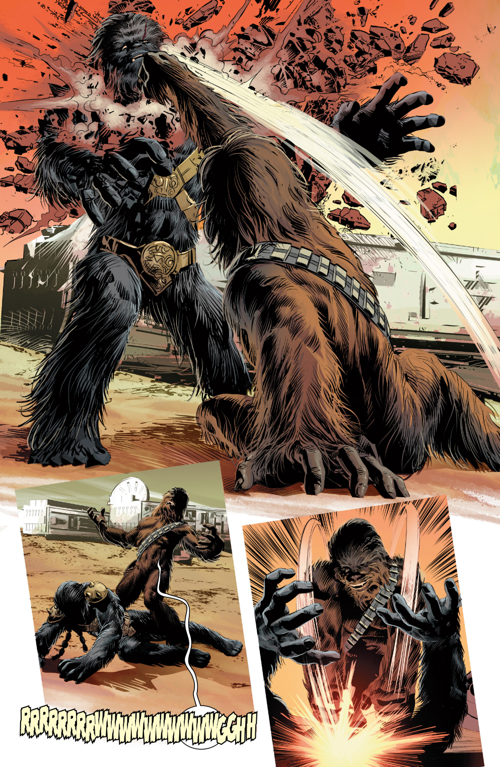 chewbacca vs Black Krrsantan