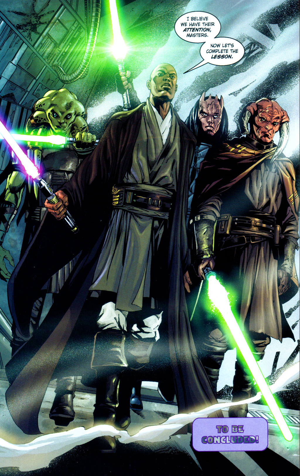 mace windu, kit fisto, agen kolar and saesee tiin