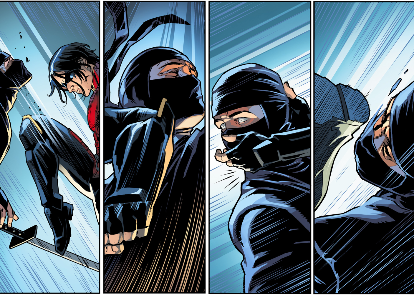 Nightwing (Damian Wayne) VS League of Shadows Ninjas