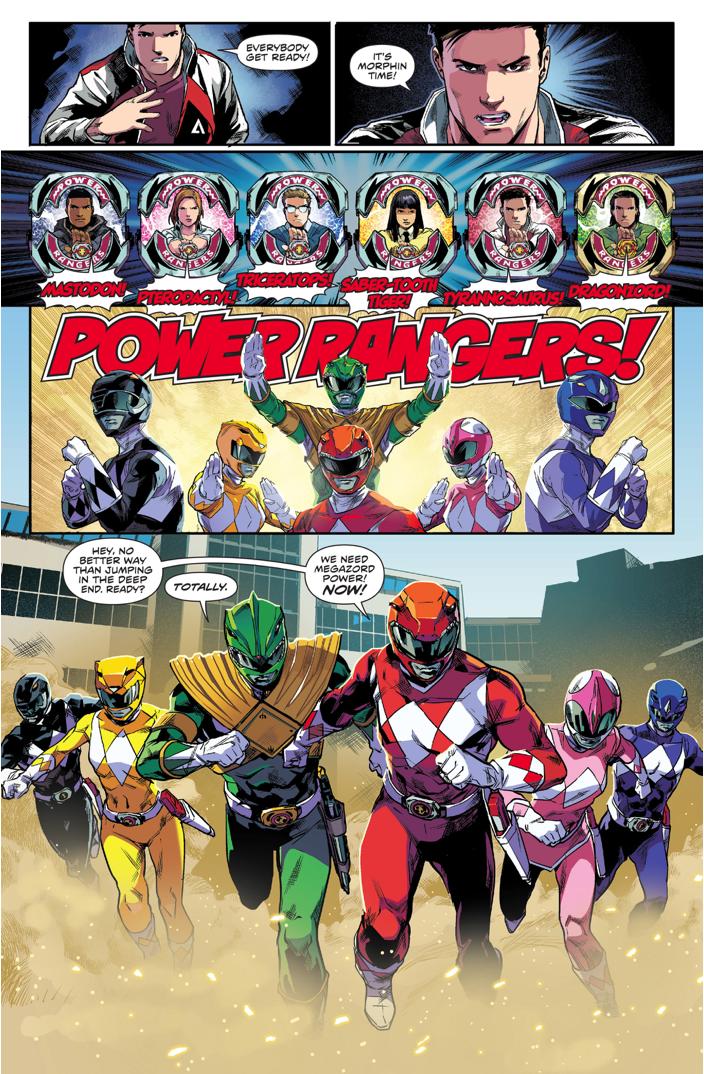 power rangers morphing time