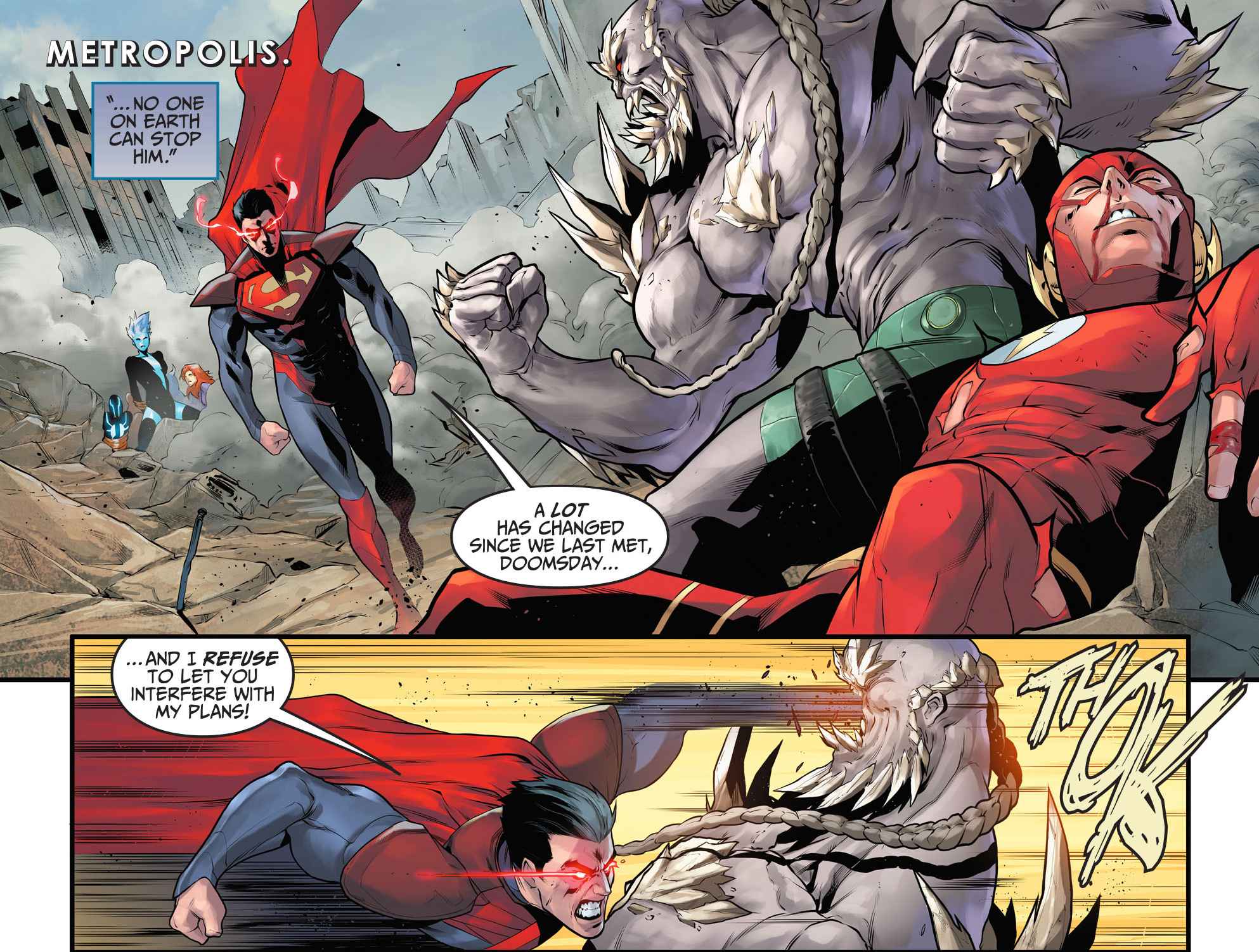 superman vs doomsday (injustice gods among us)