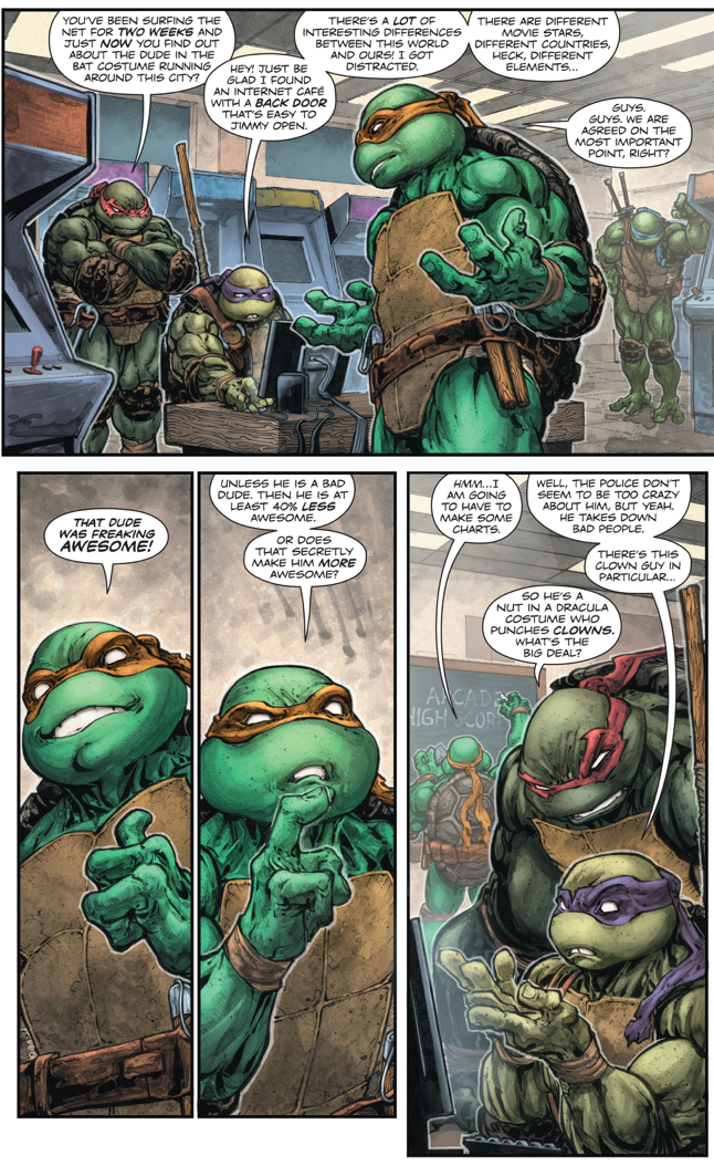 the teenage mutant ninja turtles talking about batman