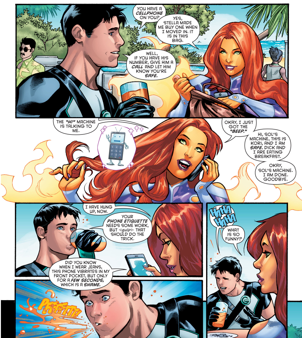 why starfire loves cellphones