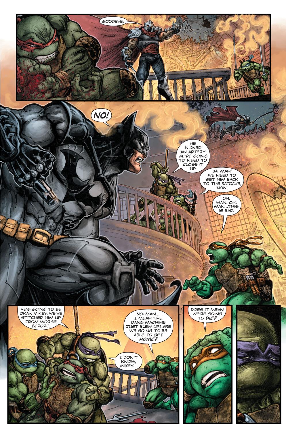 batman and teenage mutant ninja turtles team up