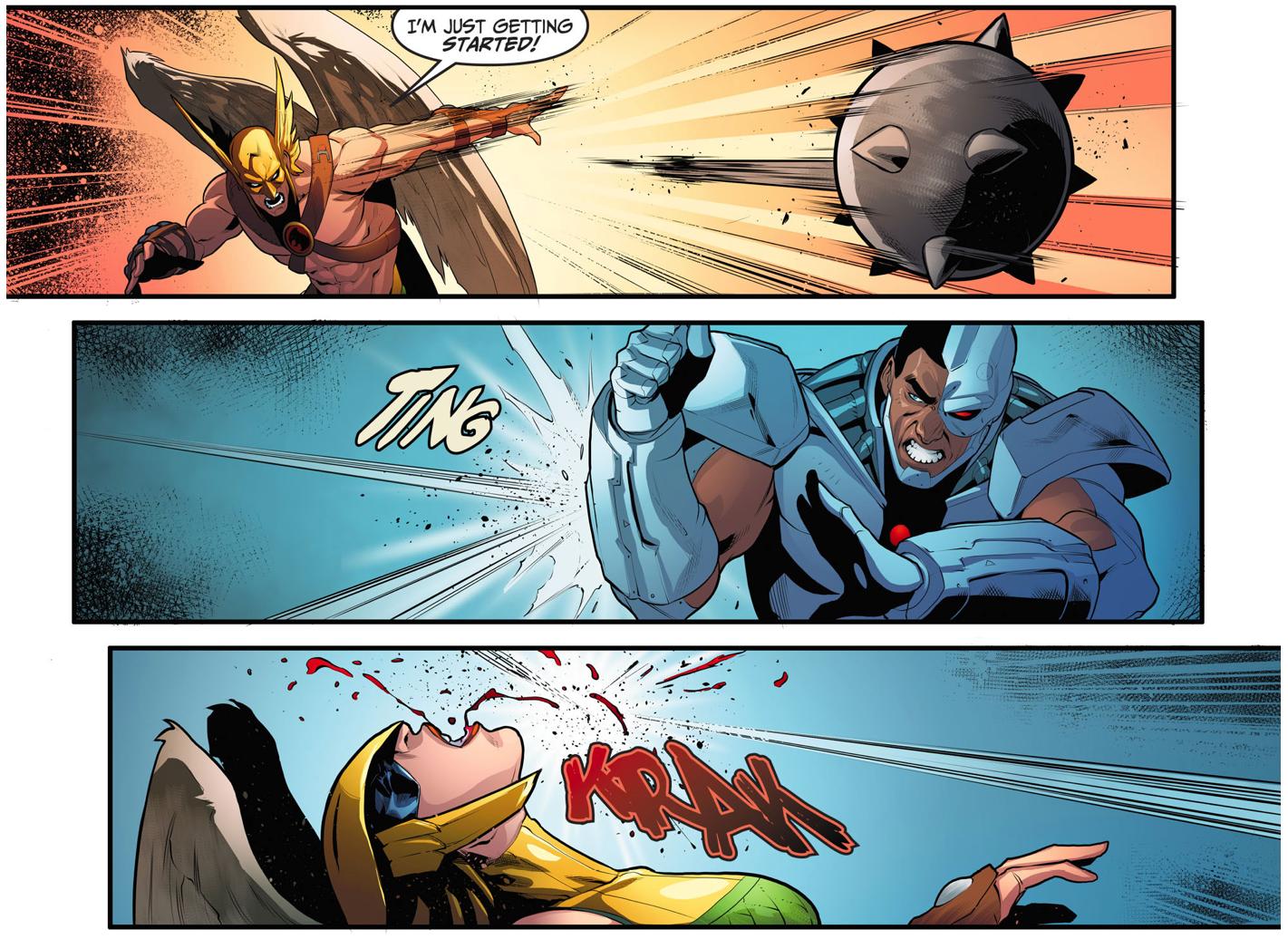 cyborg vs hawkman (injustice gods among us)