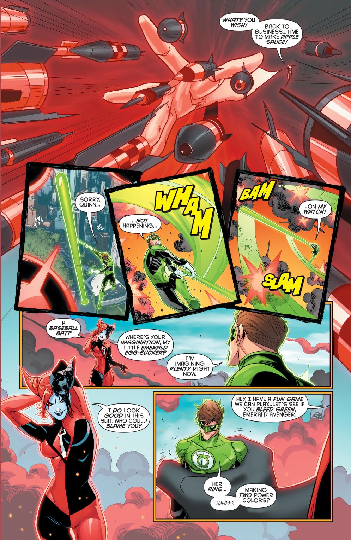 green lantern hal jordan vs red-black lantern harley quinn