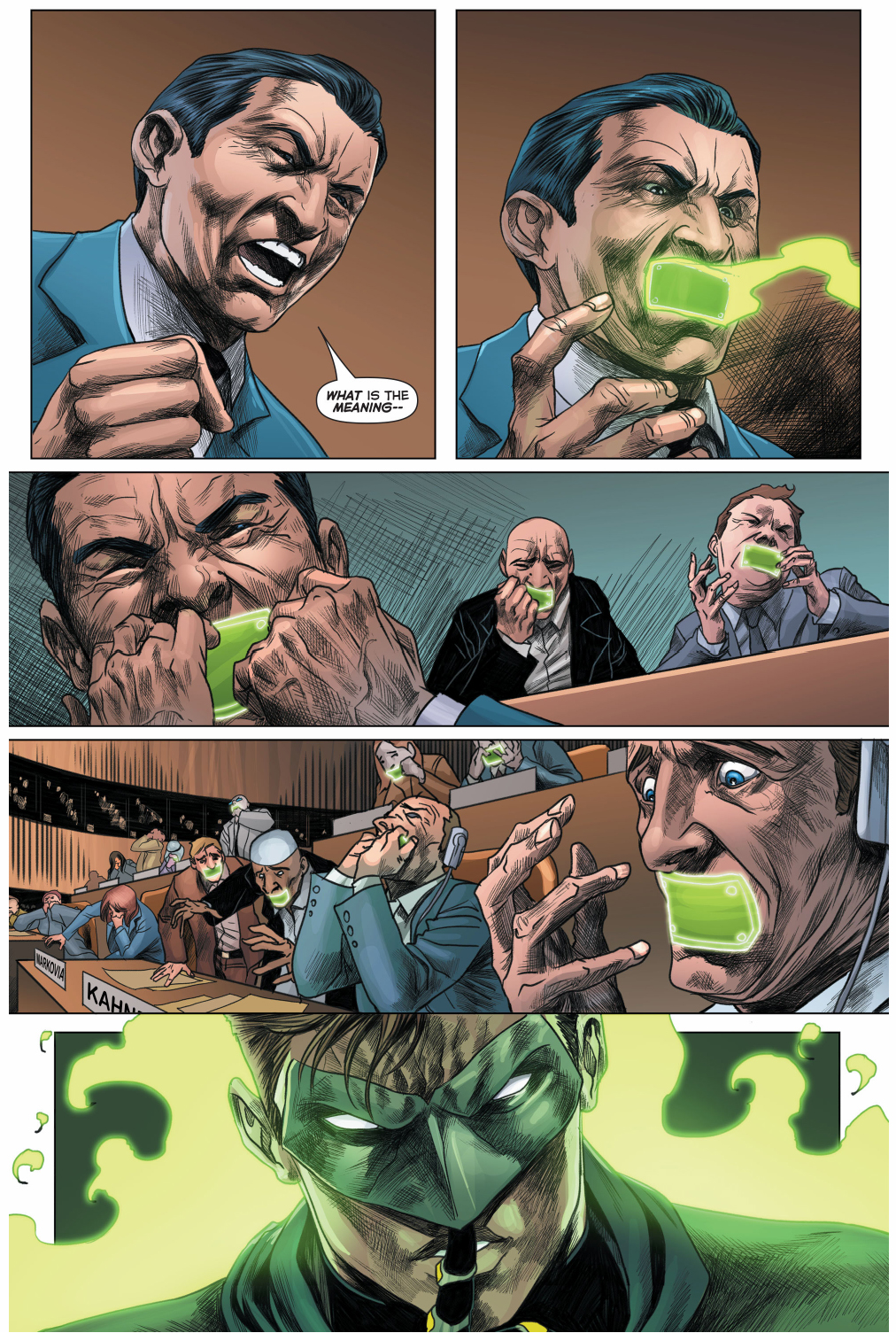 green lantern saves the u.n. council