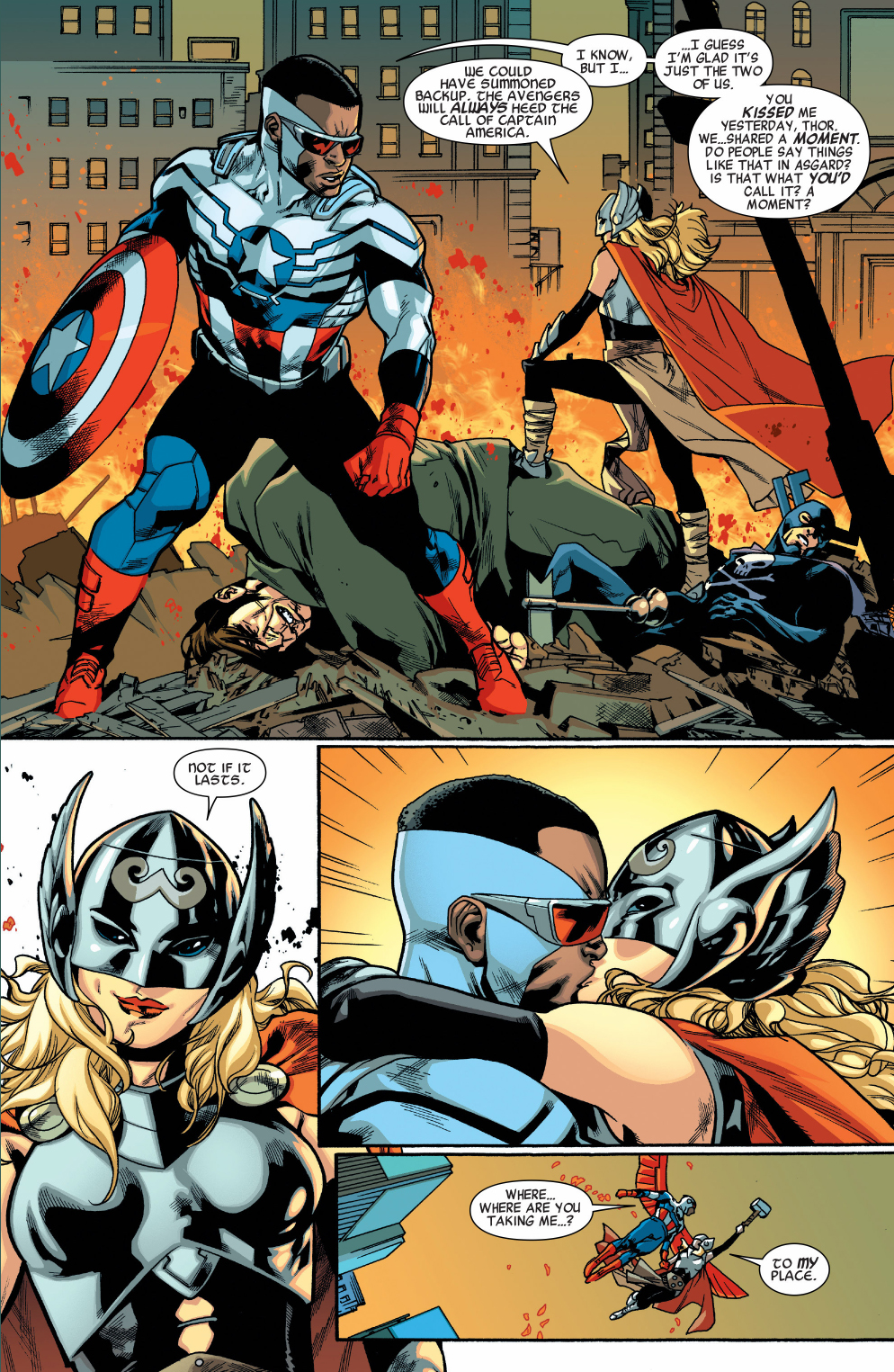 miss marvel's fanfic ships captain america and thor