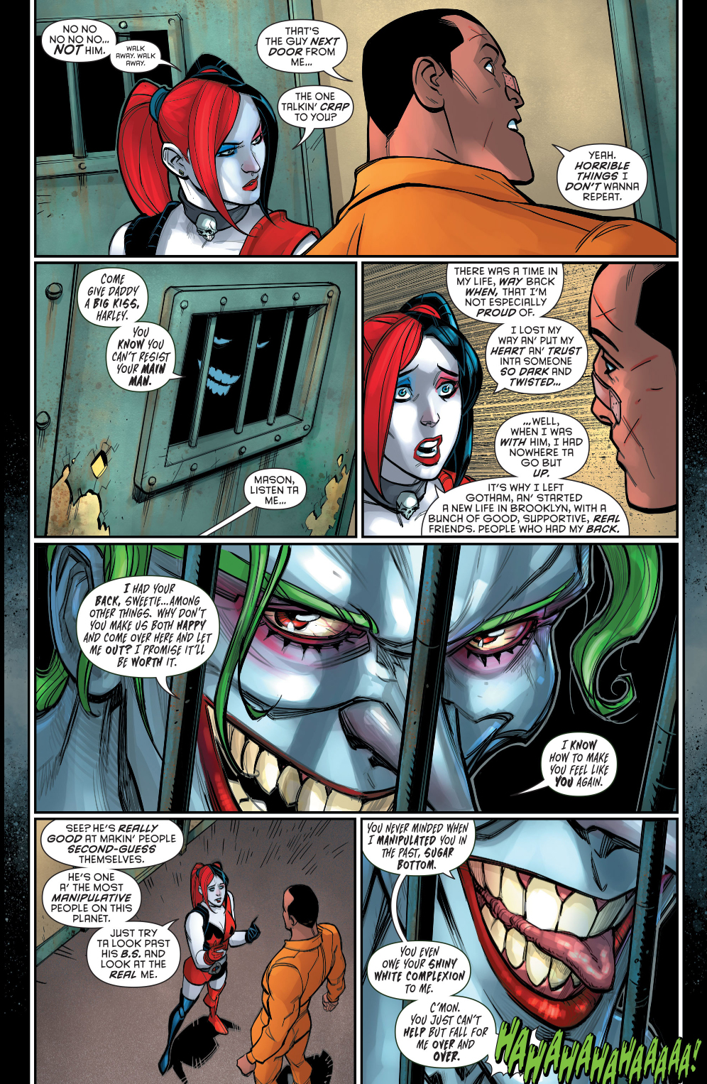 the joker taunting harley quinn