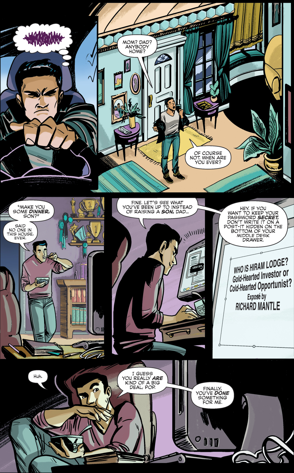 why reggie mantle sold out his dad