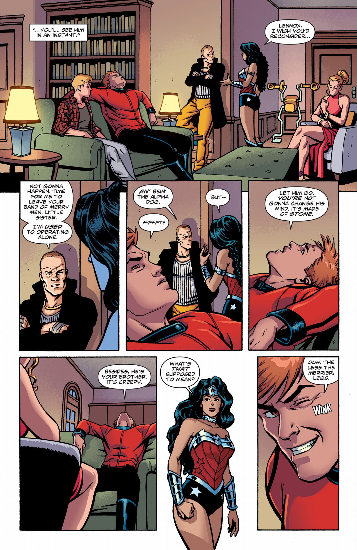 why wonder woman kissed orion