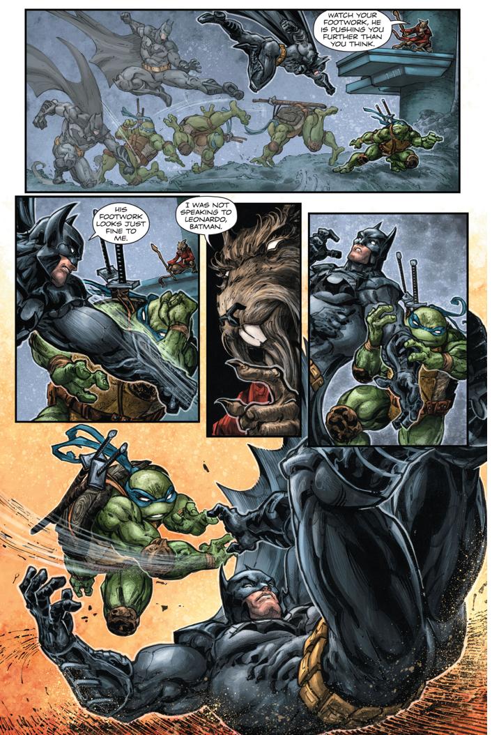 Batman Spars With Leonardo