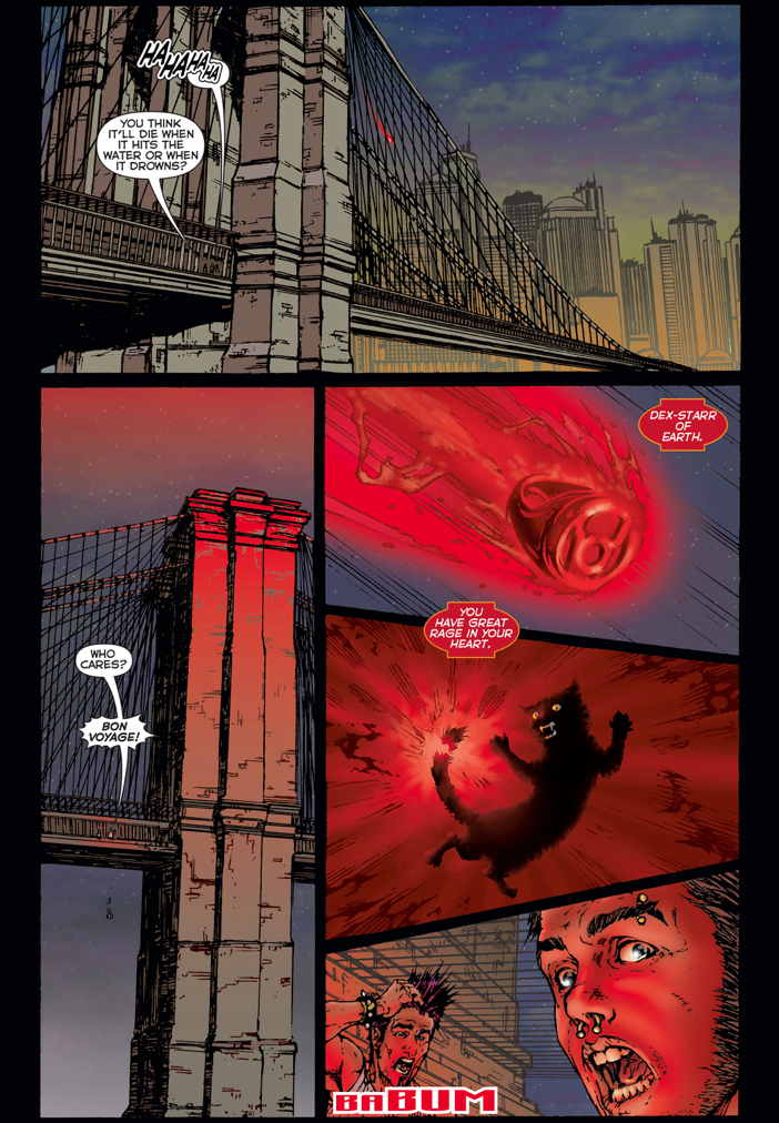 Dex-Starr Joins The Red Lantern Corps