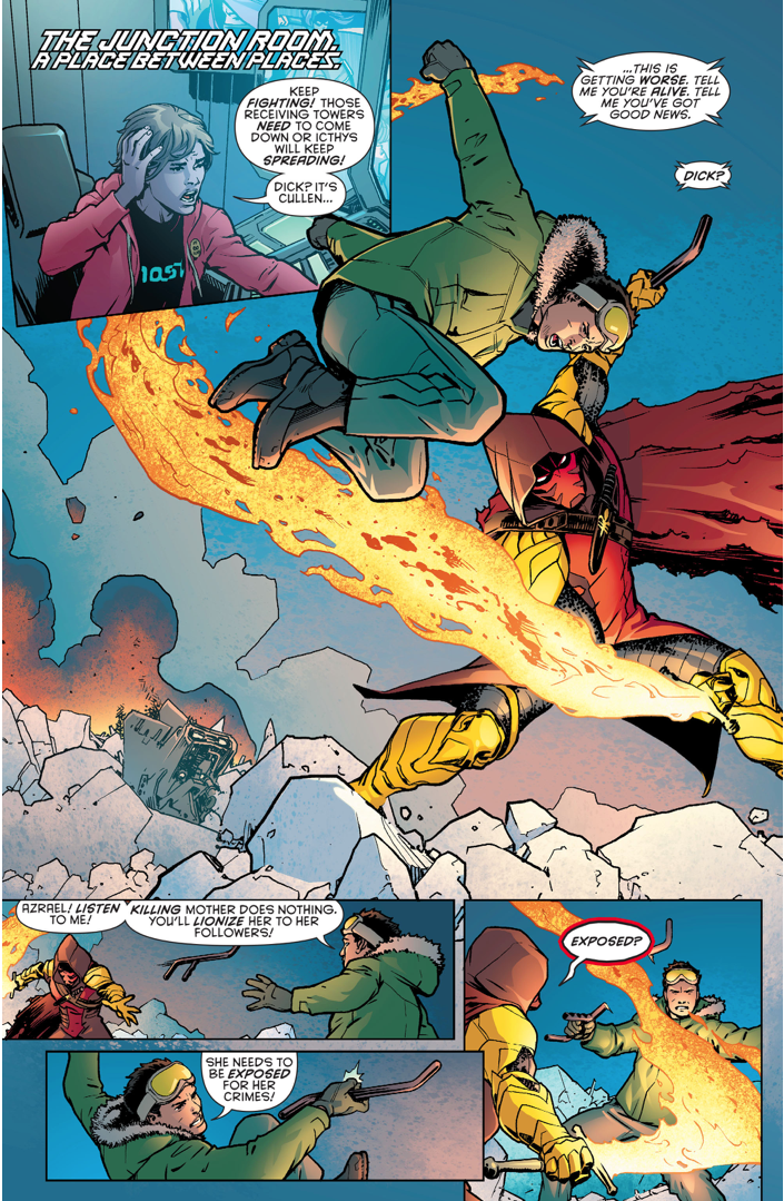Dick Grayson VS Azrael (Batman & Robin Eternal)