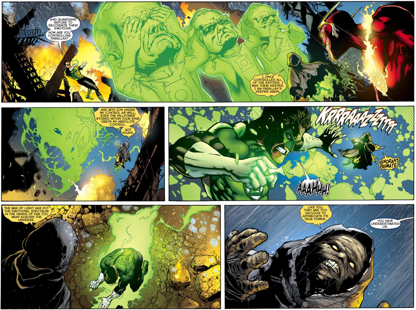 Green Lantern Hal Jordan Meets Krona