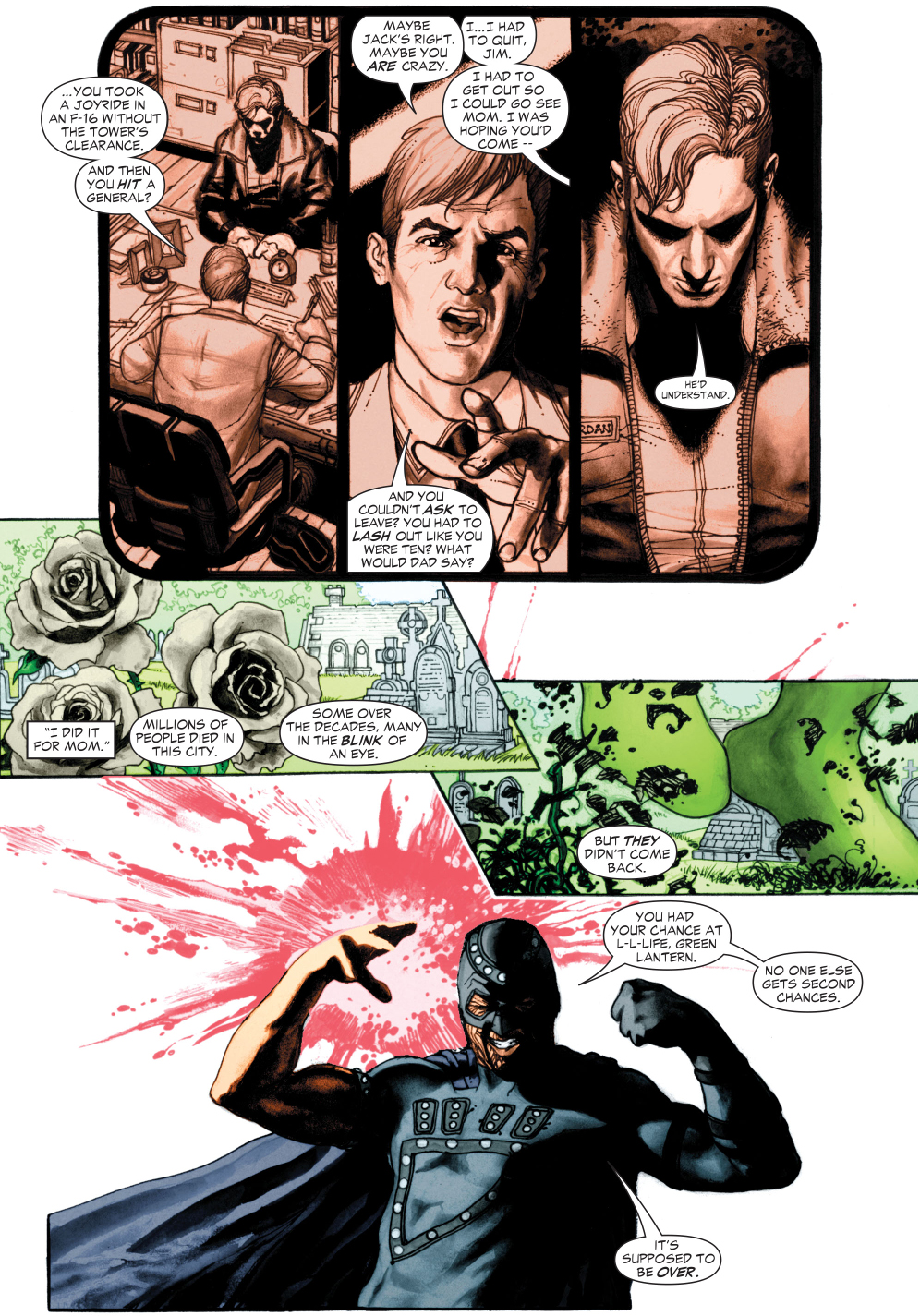 green lantern hal jordan vs black hand (green lantern vol. 4 #6)
