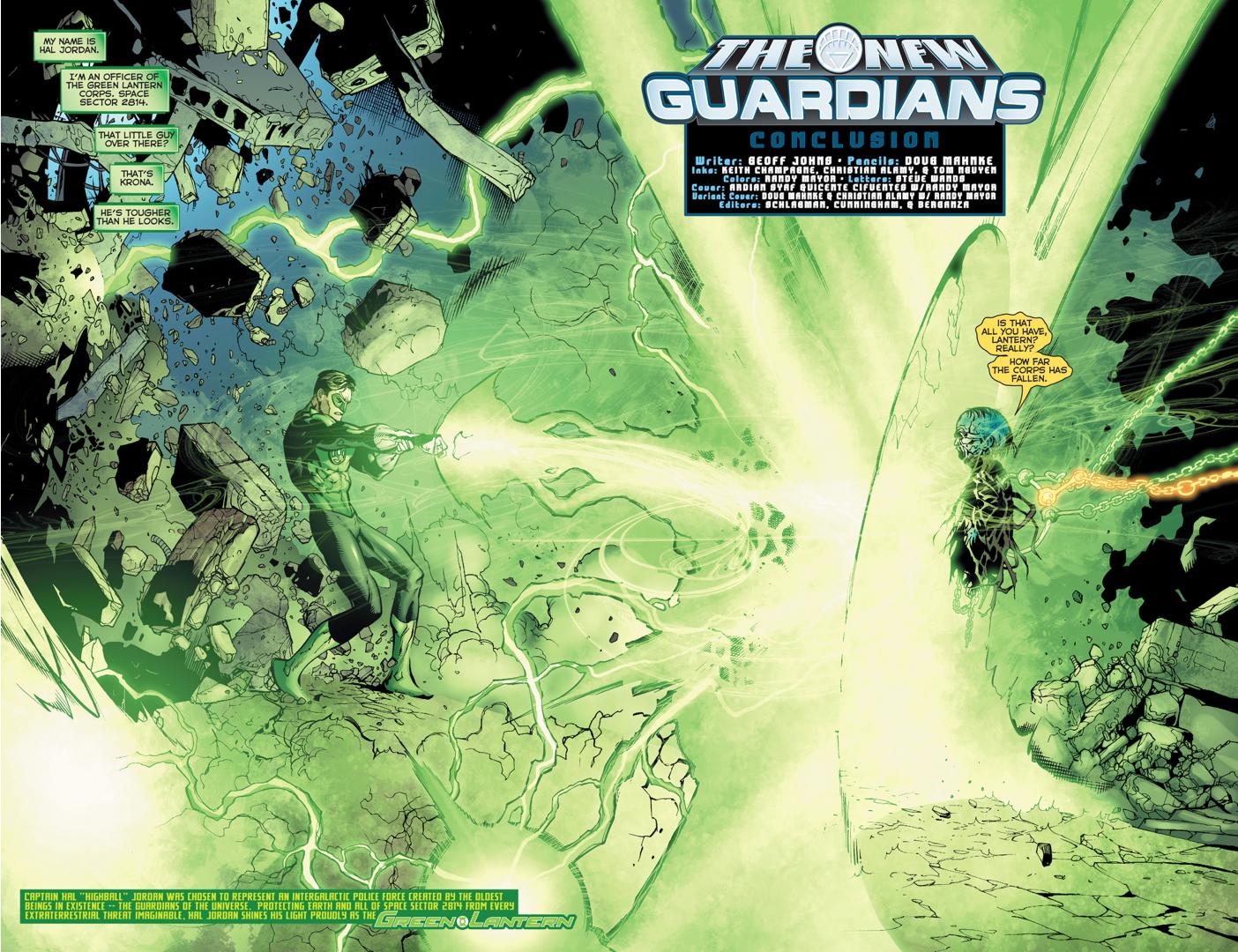 Green Lantern Hal Jordan VS Krona