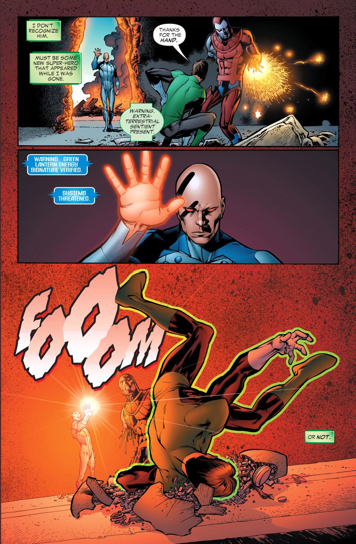 green lantern vs 2 versions of manhunters