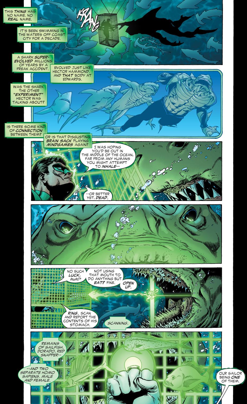 green lantern vs the shark