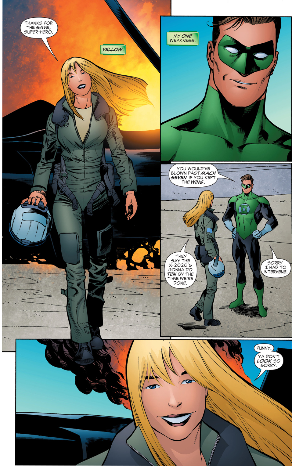 hal jordan's first meeting with cowgirl