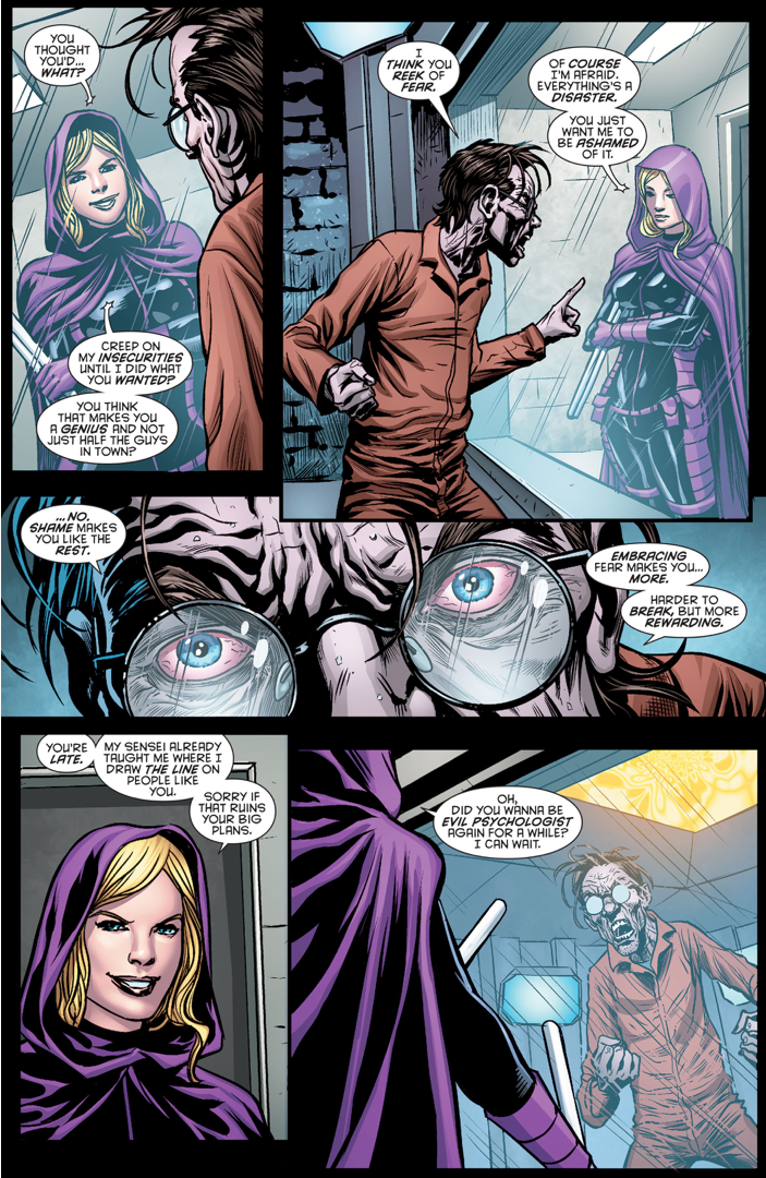 Scarecrow Fails To Mess With Spoiler's Head