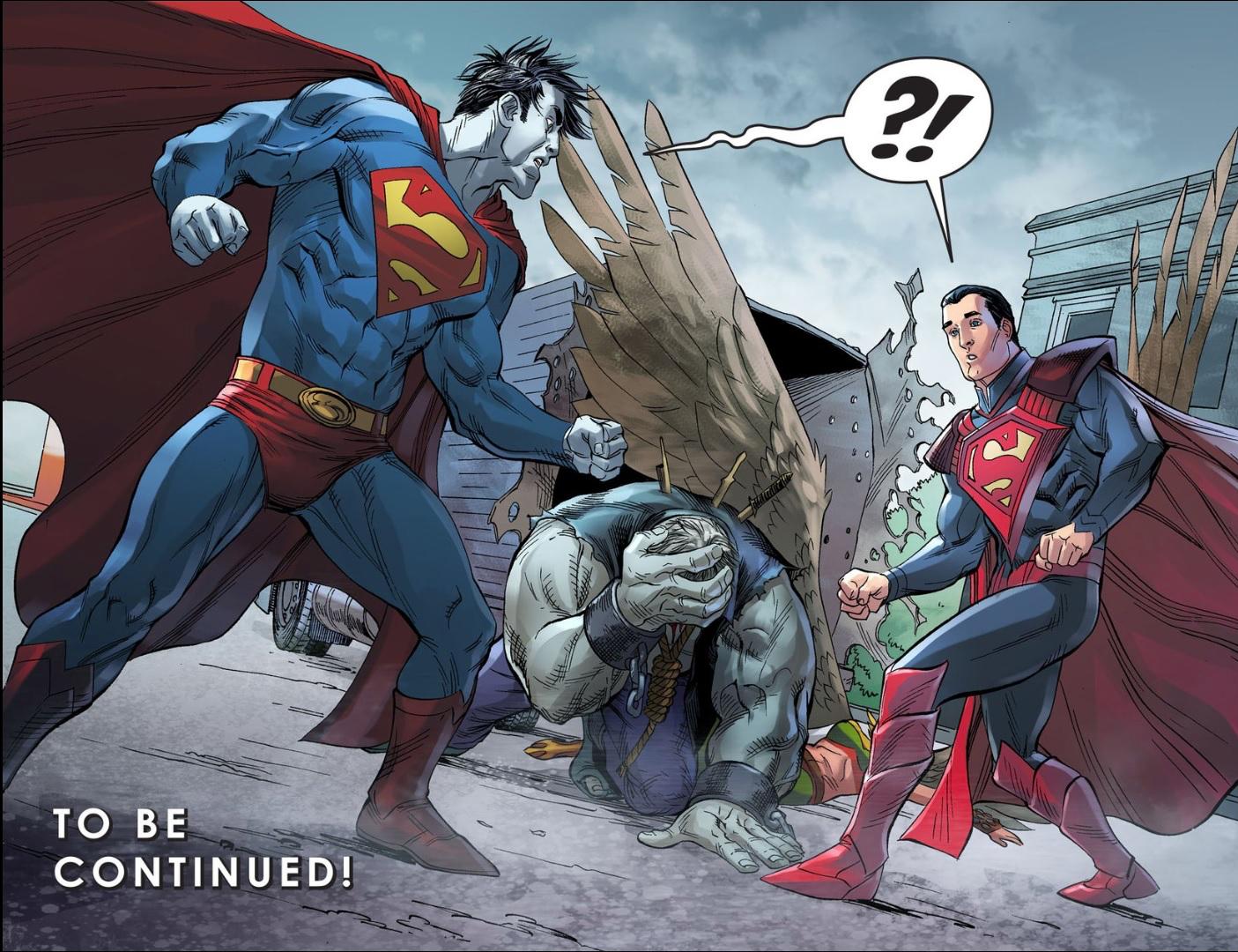 Superman Meets SBizarro (Injustice Gods Among Us)