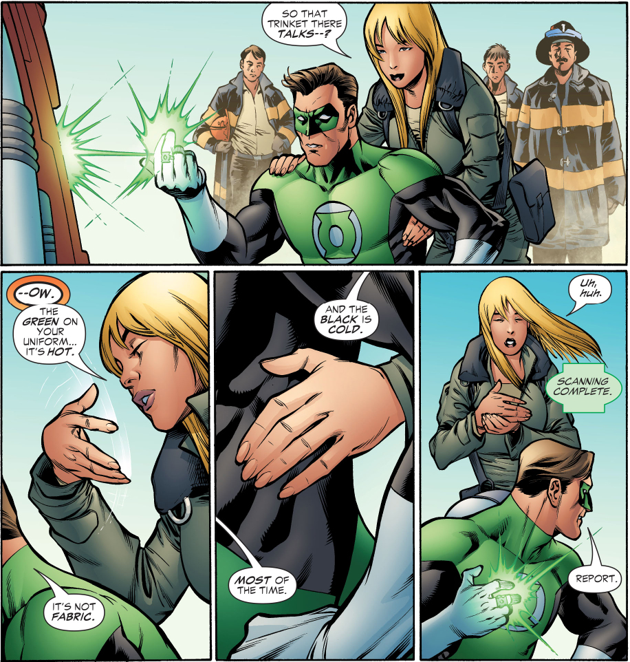 what green lantern's costume feels like