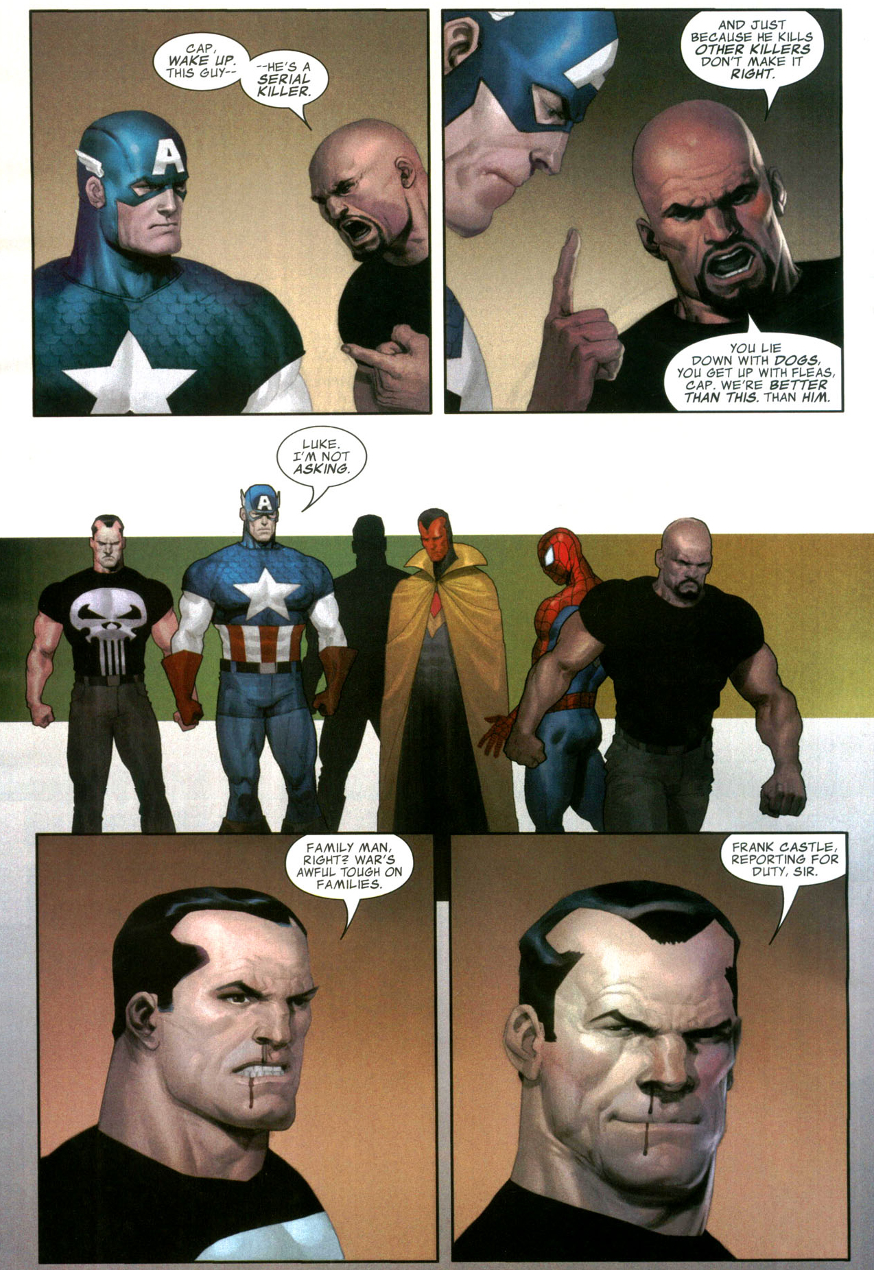 captain america recruits the punisher (civil war)
