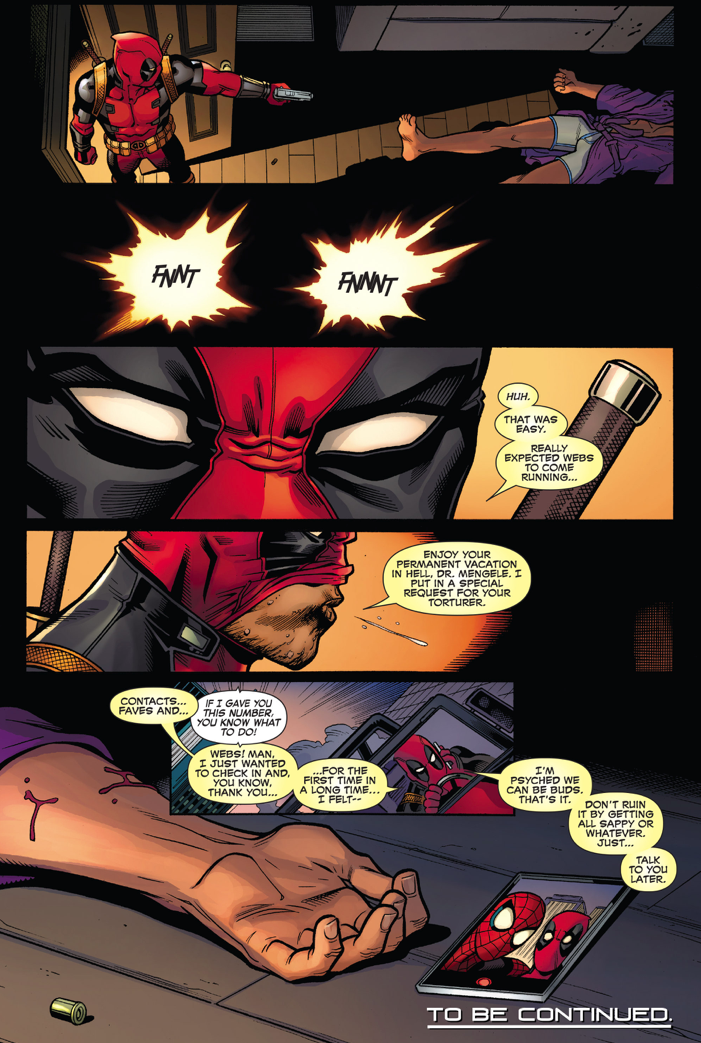 Deadpool Shoots Peter Parker In The Head