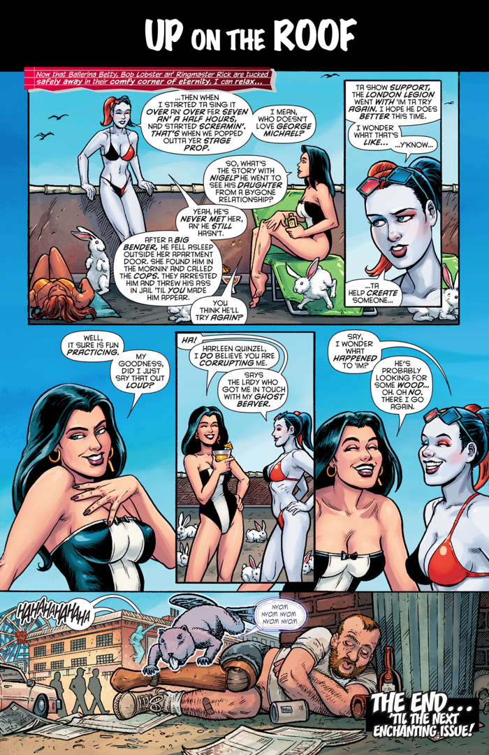 Harley Quinn And Zatanna Exchanging Sexual Humour