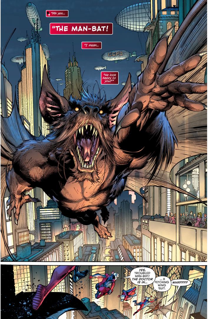 Harley Quinn Tries To Help The Man-Bat