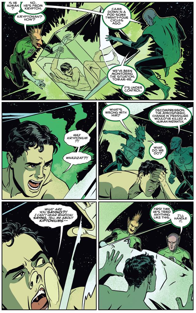 Superman Meets Abin Sur (American Alien)