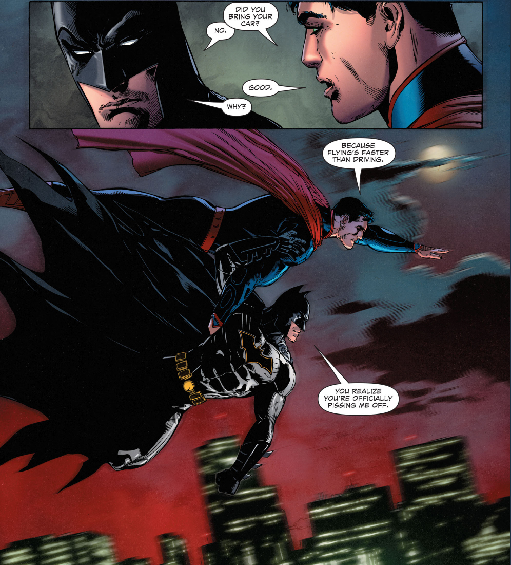 Superman Pisses Batman Off