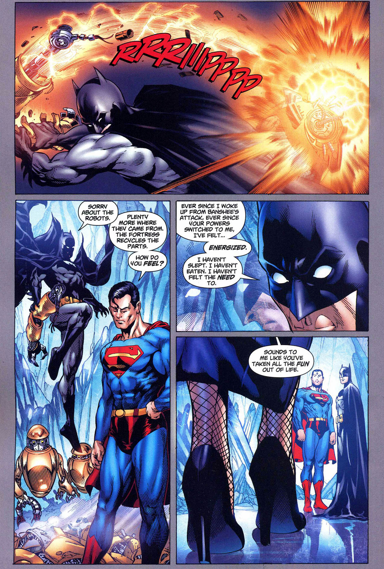 superman trains batman with his powers