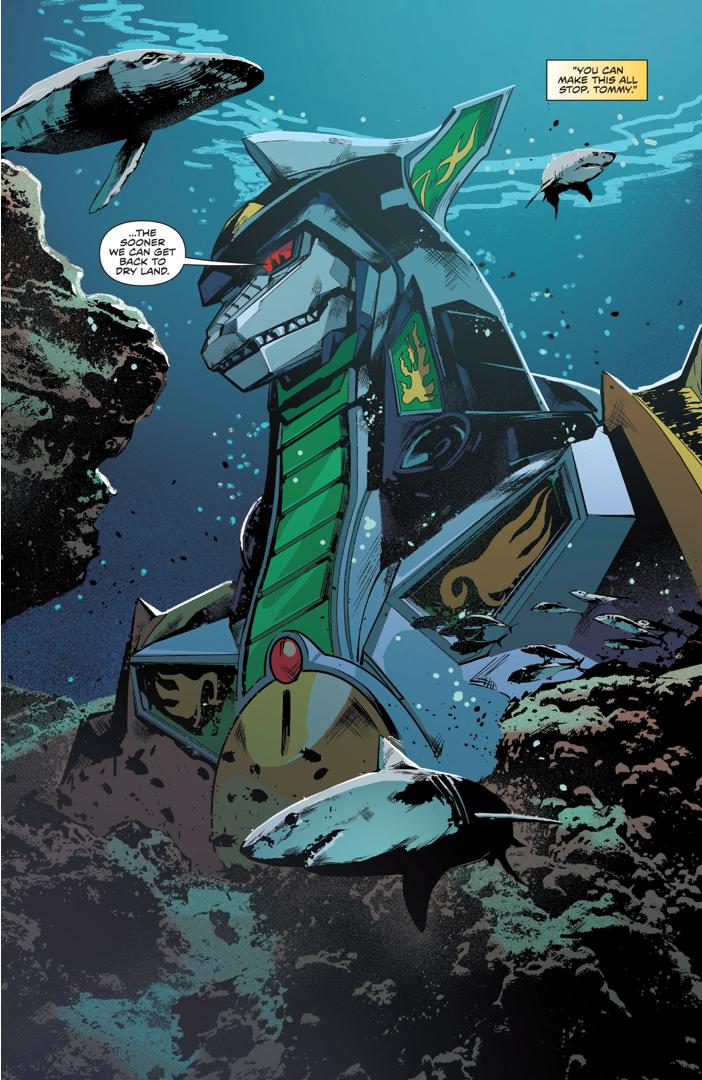 The Dragonzord Underwater