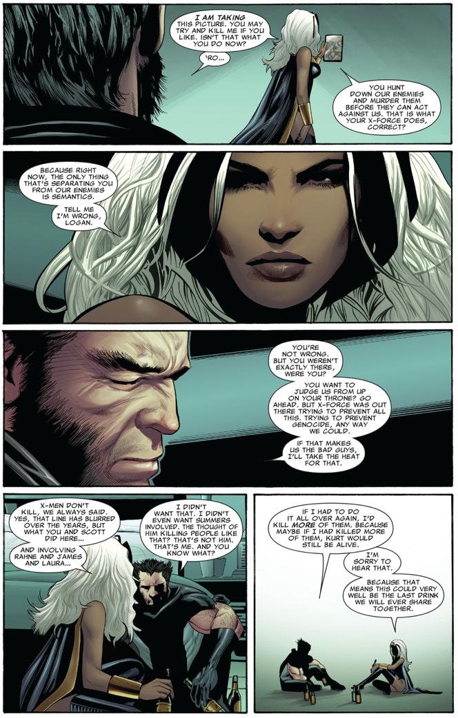 Wolverine And Storm Mourns Nightcrawler