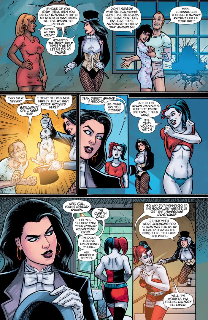 Zatanna Meets Harley Quinn