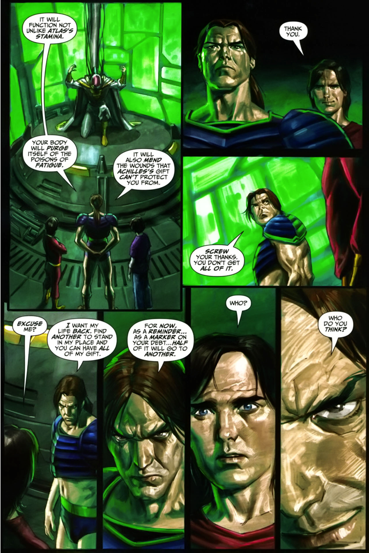 Apollo Give Freddy Freeman Half Of His Powers (Trials Of Shazam)