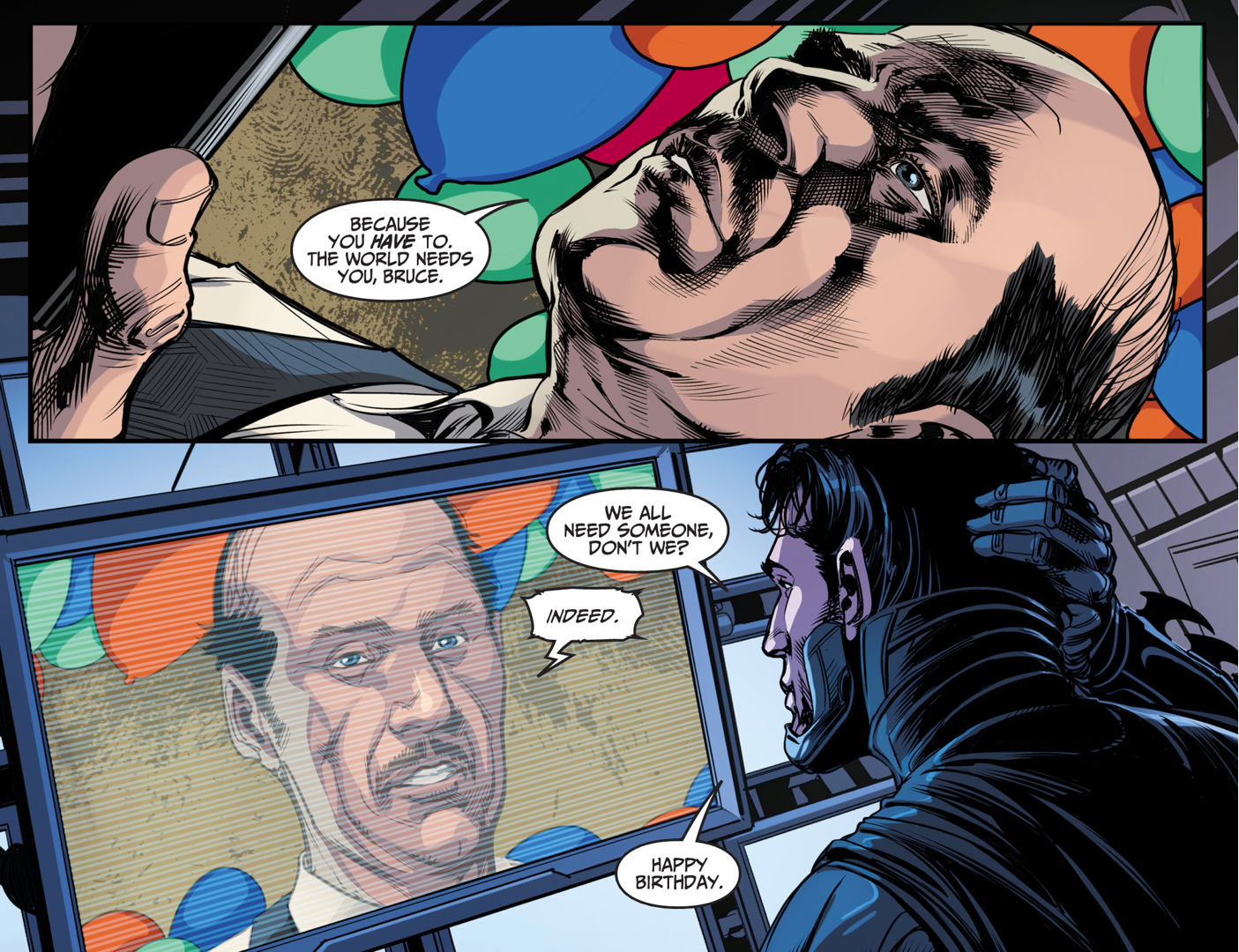 Batman Celebrates Alfred Pennyworth's Birthday (Injustice Gods Among Us)